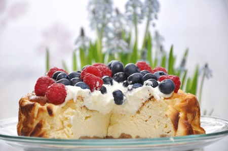 Cheesecake with Berries Stock Photo - 18223160
