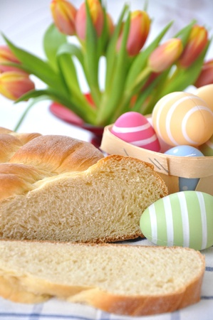 German sweet Easter bread photo