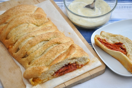 Stromboli, Italian bread photo