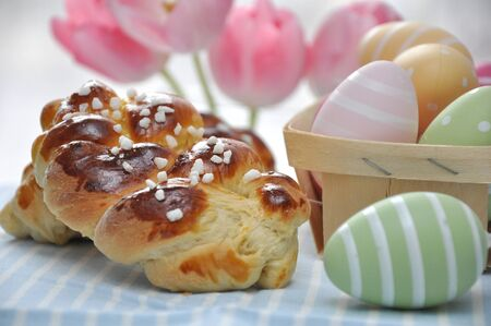 Braided Bread for Easter Stock Photo - 18288551