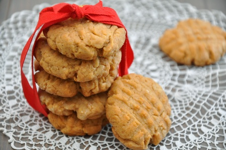 homemade cookies: Peanut butter cookies