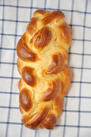 observance: A loaf of challah bread
