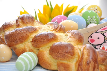 A loaf of challah bread for easter Stock Photo