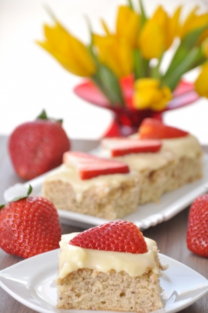 Strawberry Vanilla Cake photo