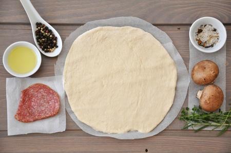 Pizza preparation photo
