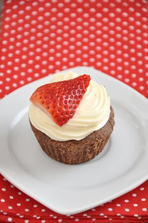 minature: Strawberry Chocolate Cupcake