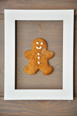 Traditional Christmas gingerbread man cookies Stock Photo - 18343897