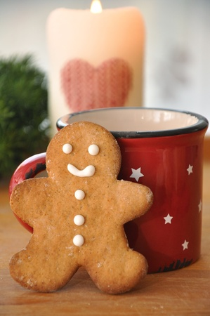 Traditional Christmas gingerbread man cookies Stock Photo - 18343439