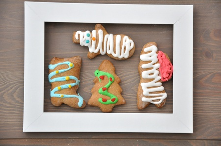 Lebkuchen - Gingerbread Cookies for Christmas photo