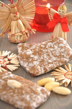 Lebkuchen - Gingerbread Cookies for Christmas Stock Photo - 18343363