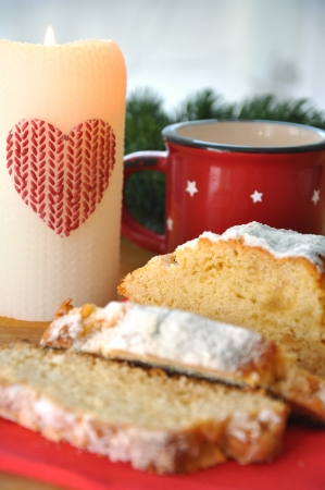 Stollen - sweet roll for christmas photo