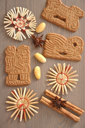 Spekulatius - Spiced cookies with almond  photo