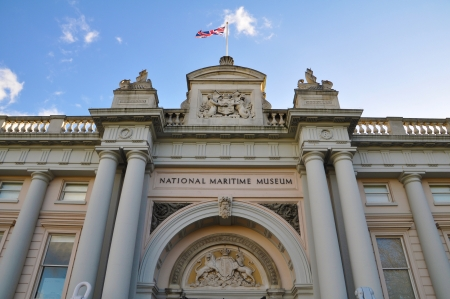 greenwich: Entrance of the National Maritime museum in Greenwich  London, UK
