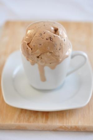 Cappuccino ice cream photo