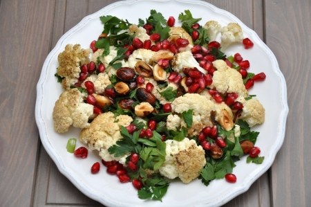 Pomegranate Couscous Salad Stock Photo