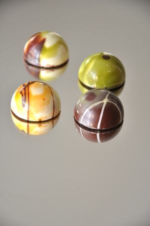 Chocolate praline and truffles photo