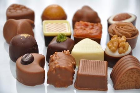Chocolate praline and truffles photo