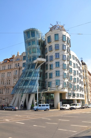Dancing House in Prague in the Czech Republic