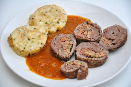 Stuffed meat roulade  photo