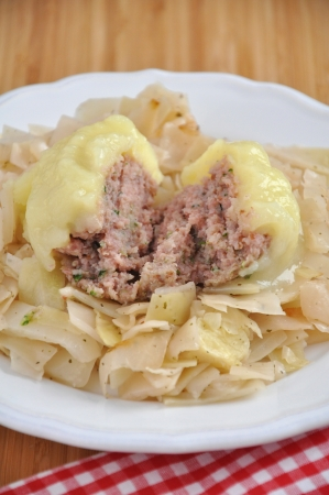 Potato Dumplings with meat filling photo