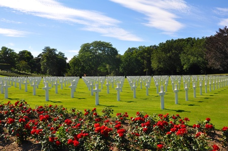 American War Cemetery in France photo