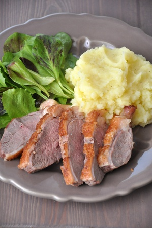Roasted duck breast with vegetables and potatoes Stock Photo - 18438602