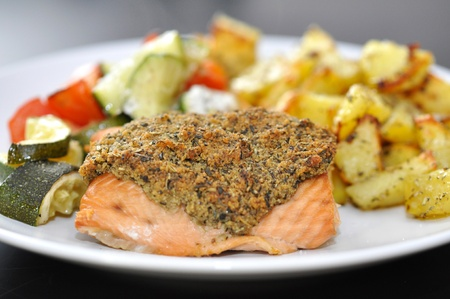 Salmon with potato photo