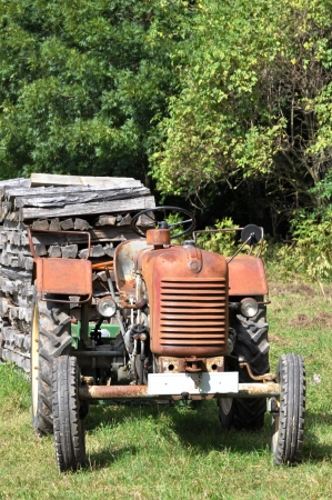 Tractor in forest photo