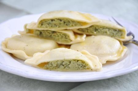 Homemade Ravioli with spinach Stock Photo - 18540583
