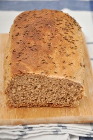 Homemade whole wheat bread photo