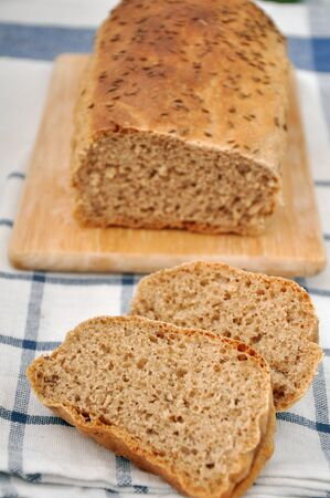 Homemade whole wheat bread photo