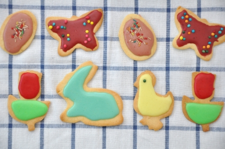 Homemade Easter cookies photo