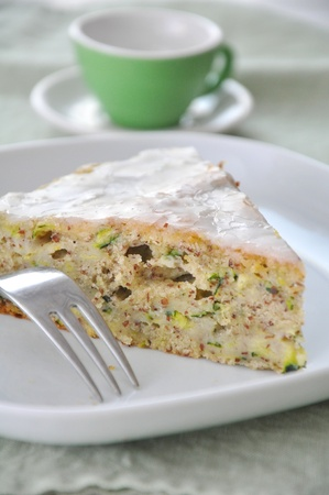 Sweet cake with zucchini and apple Stock Photo - 18841804