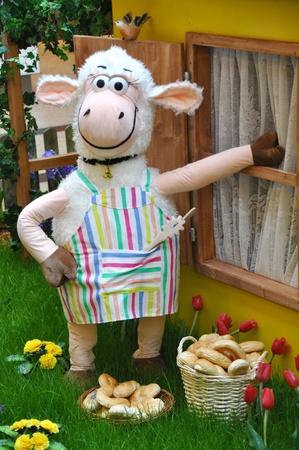 Sheep in the garden photo
