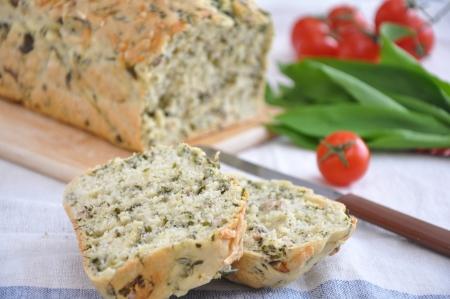Bread with wild garlic photo