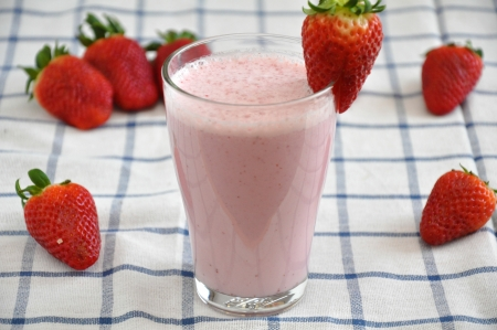 Strawberry milkshake photo