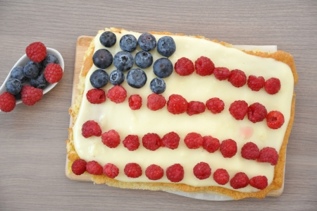 4th of July Berry Cake Stock Photo - 19163430