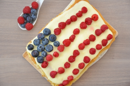 4th of July Berry Cake Stock Photo - 19163433