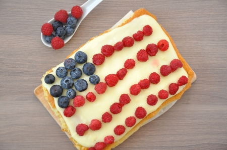 4th of July Berry Cake Stock Photo - 19163428