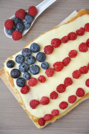 4th of July Berry Cake Stock Photo - 19163458