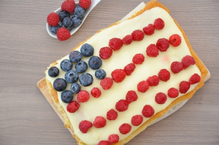 4th of July Berry Cake Stock Photo - 19163427