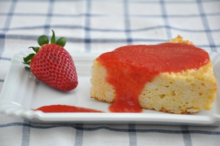 topped: Strawberry Cake Stock Photo