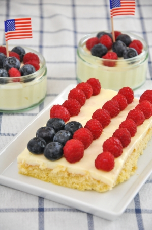 4th of July Berry Cake Stock Photo - 19242024