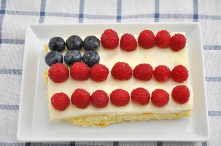4th of July Berry Cake Stock Photo - 19242006