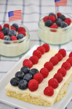 4th of July Berry Cake Stock Photo - 19242105