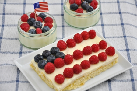 4th of July Berry Cake Stock Photo - 19242008