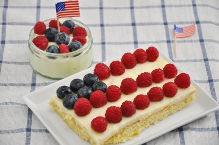 4th of July Berry Cake Stock Photo - 19242023