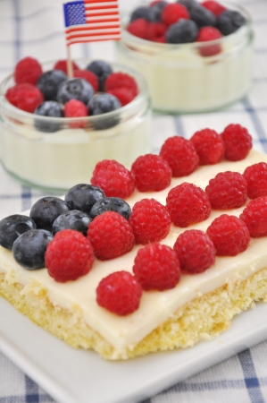 4th of July Berry Cake Stock Photo - 19241916