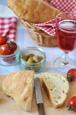 family dinner: Italian Family Dinner - Table Setting