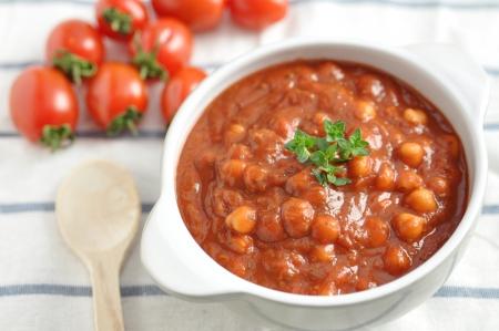 Italian Tomato Soup with beans Stock Photo - 19395637